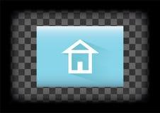Icône de page d'accueil Photographie stock libre de droits