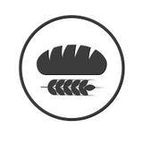 Icône de pain Photo stock
