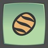 Icône de pain de pain blanc d'ensemble de vecteur Logo infographic moderne et pictogramme Images libres de droits
