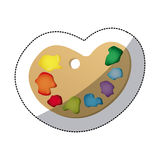 icône de palette de peinture de couleur Images stock