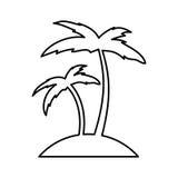Icône de Palm Beach d'arbre Photographie stock libre de droits