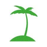 Icône de Palm Beach d'arbre Photos stock