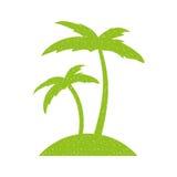 Icône de Palm Beach d'arbre Images libres de droits