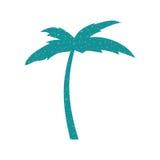 Icône de Palm Beach d'arbre Photo stock