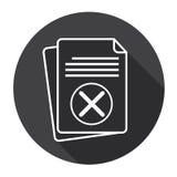 Icône de papier de Web de contrat de document de croix de feuille Images libres de droits