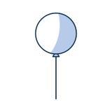 Icône de partie d'air de ballon Photos stock