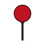 Icône de partie d'air de ballon Photos libres de droits