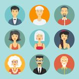 Icône de personnes d'avatar Photos stock