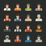 Icône de personnes de sport Photos stock