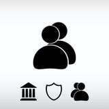 Icône de personnes, illustration de vecteur Style plat de conception Photo stock