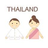 Icône de personnes thaïlandaises Photographie stock libre de droits