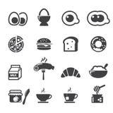 Icône de petit déjeuner Photos stock