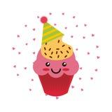 Icône de petit gâteau d'anniversaire illustration libre de droits