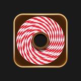 Icône de petit pain de ficelle Photographie stock libre de droits