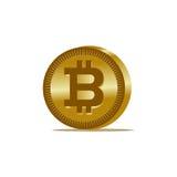 Icône de pièce de monnaie de Bitcoin d'or Photos libres de droits