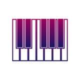 Icône de piano ou de synthétiseur Signe de musique Instrument musical Photographie stock libre de droits