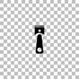 Ic?ne de piston plate illustration de vecteur