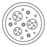 Icône de pizza, style d'ensemble Photo libre de droits