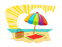 Icône de plage Images libres de droits