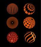 Icône de planète de cercle de sphères Image libre de droits