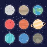 Icône de planètes de système solaire photos libres de droits