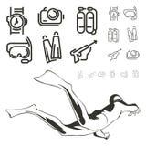 Icône de plongée illustration libre de droits