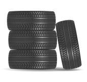 Icône de pneu en caoutchouc Images libres de droits