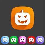 Icône de potiron de Halloween Photos libres de droits