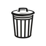Icône de poubelle Photos libres de droits