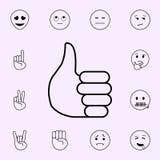 Ic?ne de pouce Ensemble universel d'ic?nes d'Emoji pour le Web et le mobile illustration de vecteur