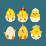 Icône de poulet de Pâques illustration stock