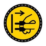 Ic?ne de PPE Les canalisations de débranchement branchent de l'isolat électrique de signe de symbole de débouché sur le fond blan illustration libre de droits