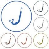 Icône de prise d'air de plongée Image libre de droits