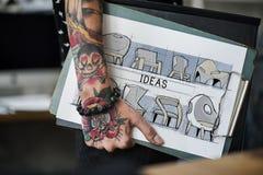 Icône de processus de conception de création d'idées images libres de droits