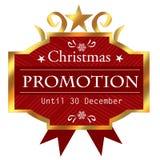 Icône de promotion de Noël Photos stock