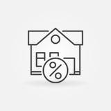 Icône de propriété de crédit-bail Images stock