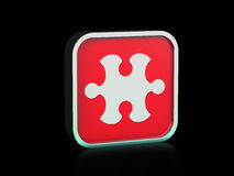 Icône de puzzle Photos stock