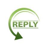 Icône de réponse Photos stock