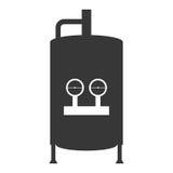 Icône de réservoir de chauffe-eau illustration libre de droits