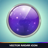 Icône de radar Photographie stock libre de droits