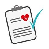 Icône de rapport médical Photos stock