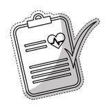 Icône de rapport médical Photographie stock