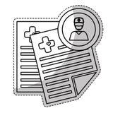 Icône de rapport médical Images stock