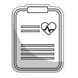 Icône de rapport médical Image stock