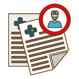 Icône de rapport médical Photo stock