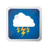 icône de rayon de nuage d'emblème Image libre de droits
