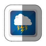 icône de rayon de nuage de symbole Photos stock