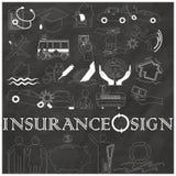 Icône de rayure d'assurance dessinée sur le tableau Photos libres de droits