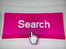 Icône de recherche Photo stock
