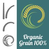 Icône de riz et de blé illustration stock